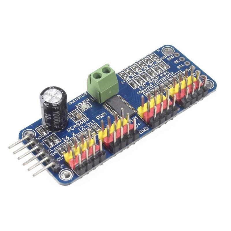 Módulo Controlador de servos PCA9685