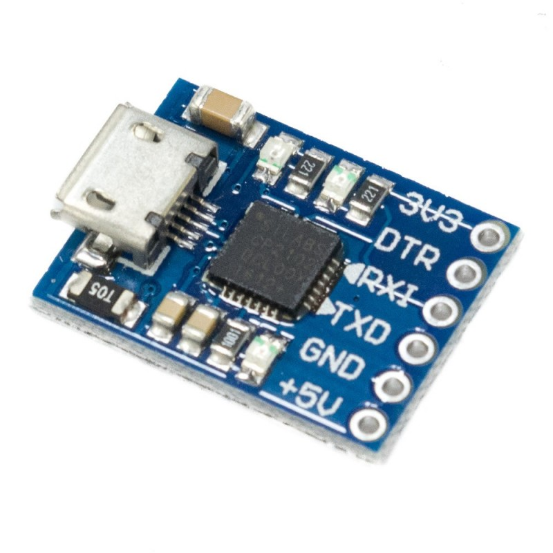 Módulo CP2102 Conversor USB a TTL (Micro USB)