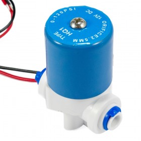 Válvula solenoide baja presión conector rápido