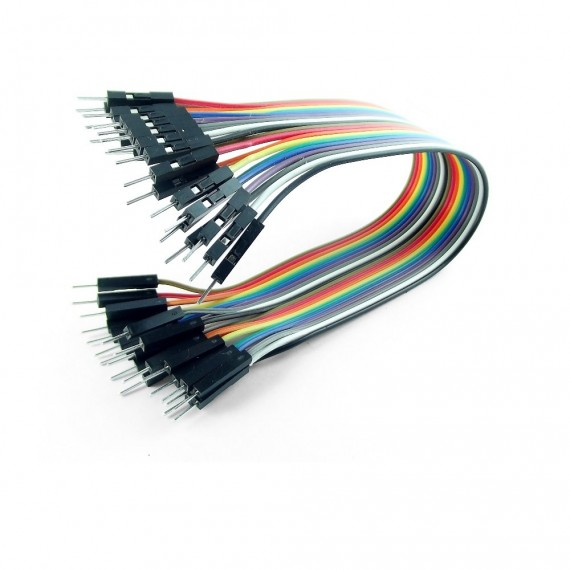 Cable Dupont, macho a macho 20cm x 20Und