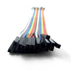 Cable Dupont, hembra a hembra 20cm x 20Und