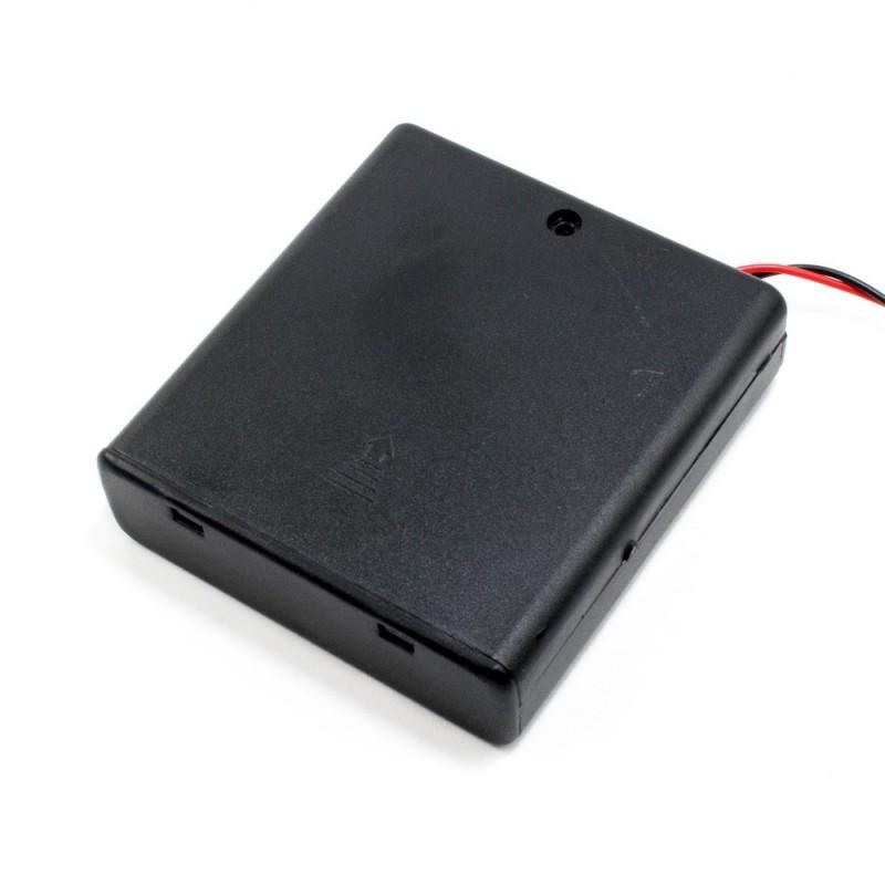 Portapila 4xAA, con switch