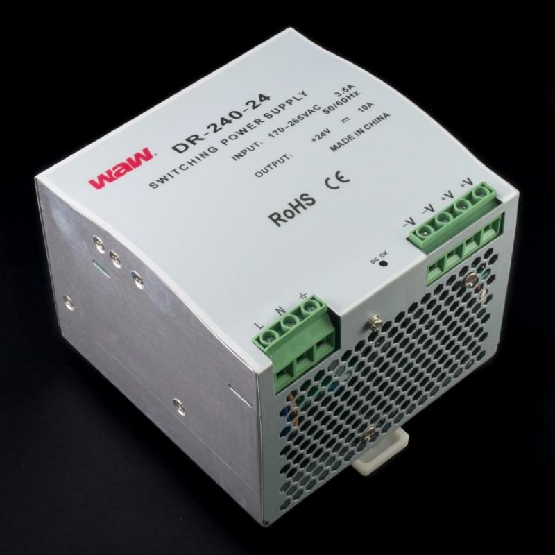 Fuente de alimentación conmutada DIN 240W 24V