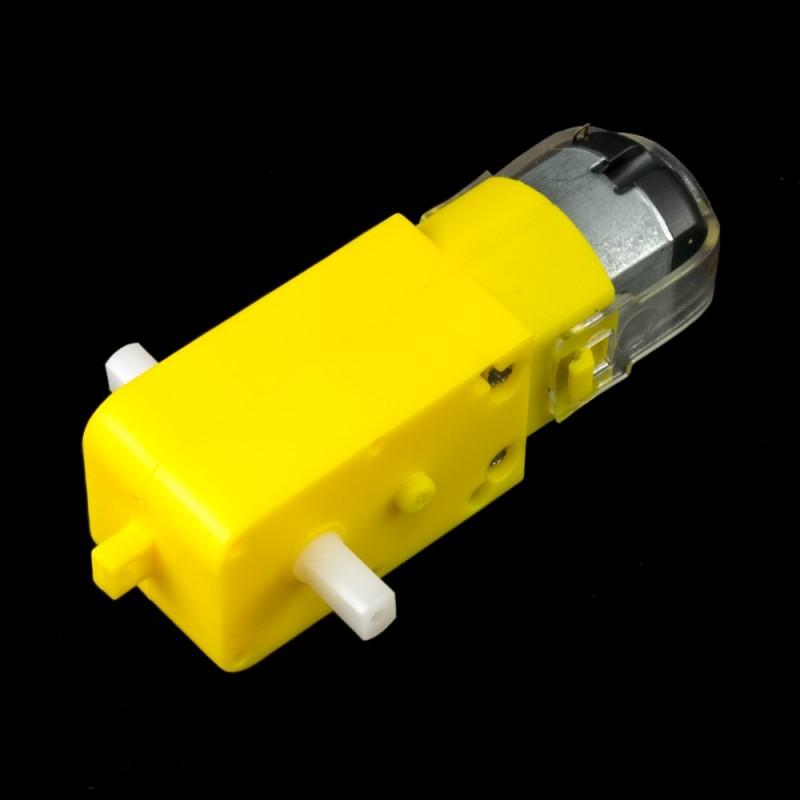 Motor DC con caja reductora 6V 200rpm