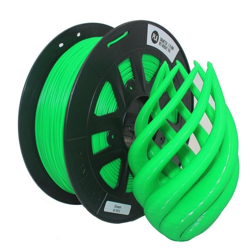 PLA Verde 1.75mm rollo de  1Kg