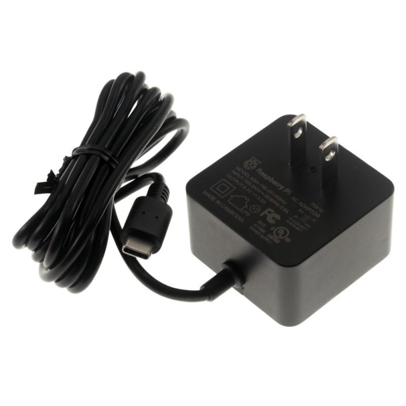 Fuente de alimentación para Raspberry Pi 4 USB C 5.1V/3A