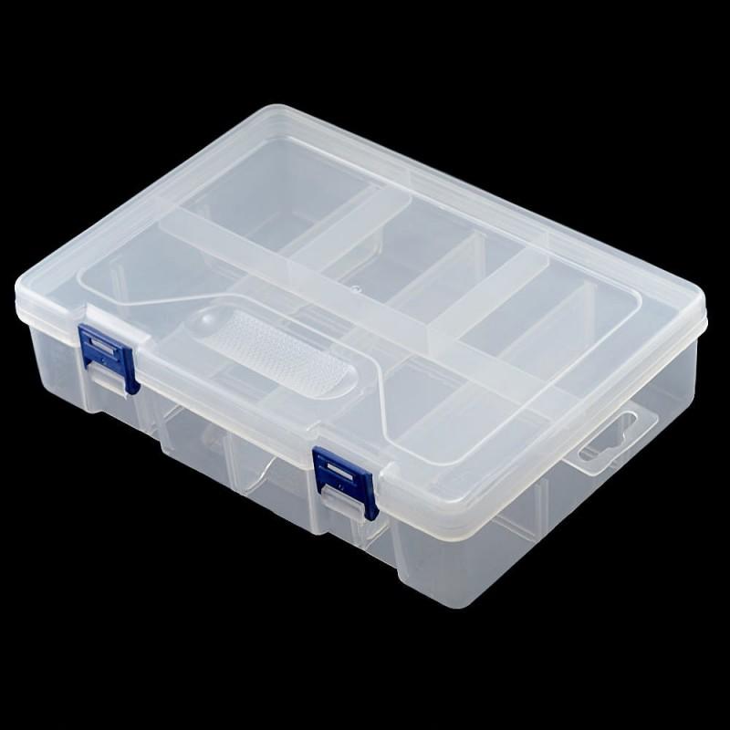 Caja organizadora de dos niveles 22.5*15.5*6cm