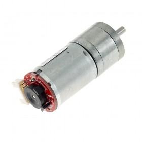 Motor DC con encoder y caja reductora 25GA - 12V 350rpm