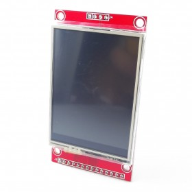 "Display tactil LCD 2.4"" a colores"