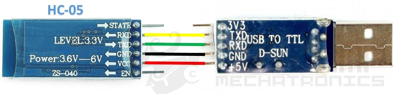 Conexion HC-05 y conversor USB a TTL