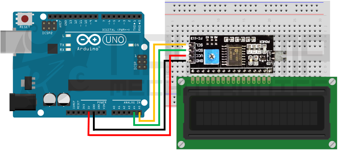 conexion arduino y LCD I2C