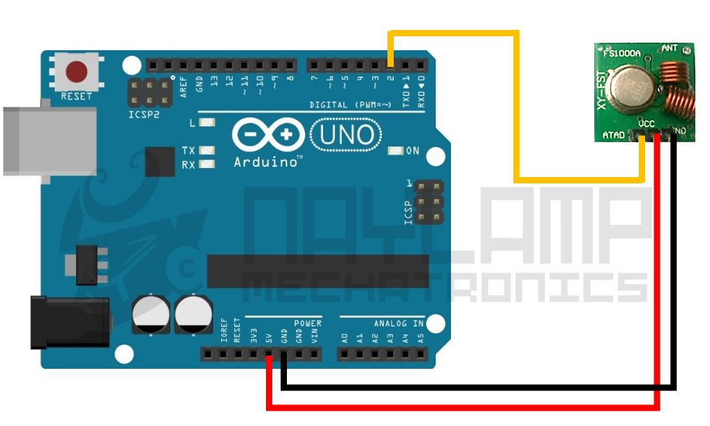 Conexion RF emisor y arduino