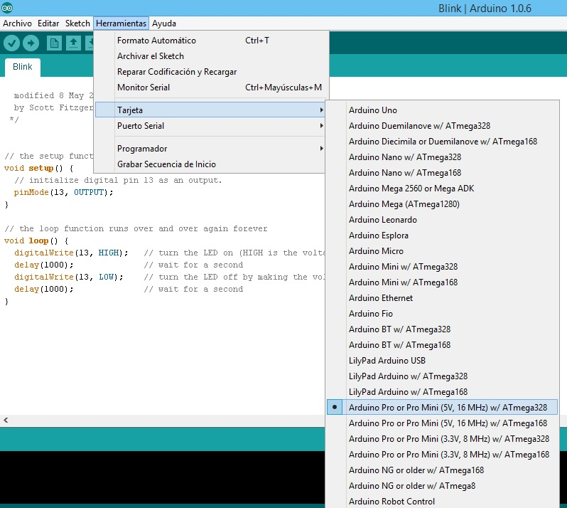 Programacion Pro Mini 2