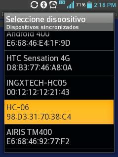 COnectar con HC-06