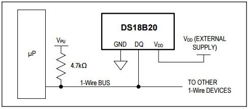 DS18B20 External Power