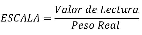 Formula escala HX711
