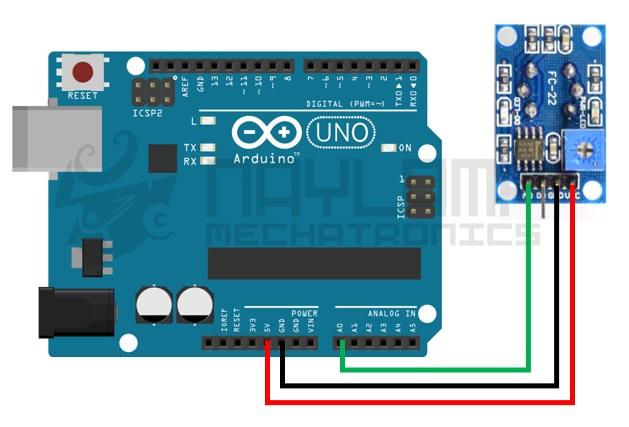 Conexion analogica MQ-3 y arduino, modelo 2