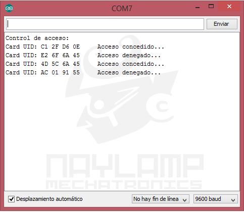 Monitor serial RFID aplicacion