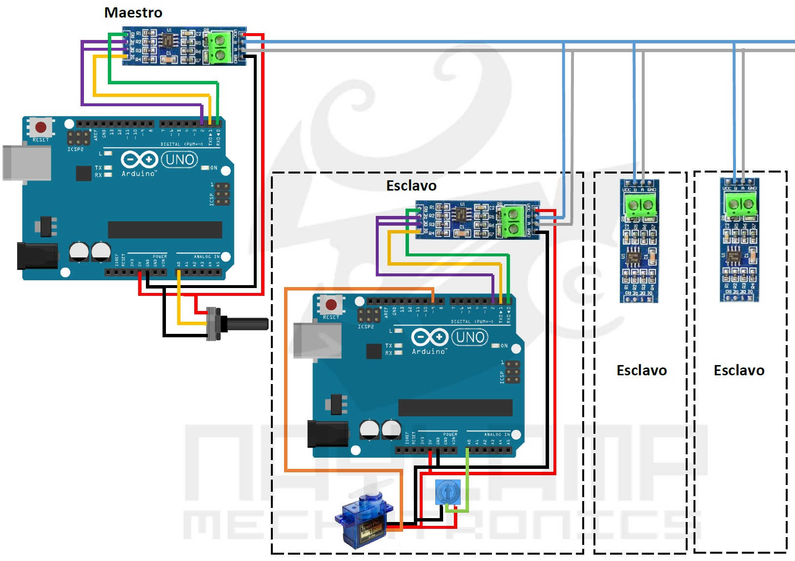 Arduino max485 Modbus Slave