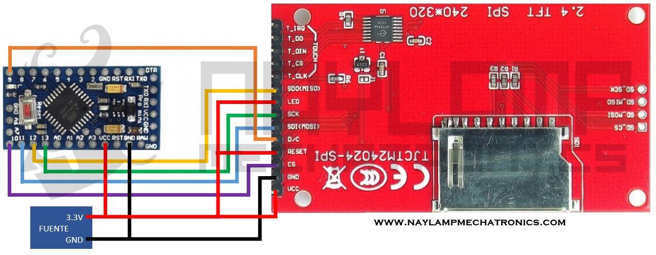 Tutorial pantalla TFT táctil con Arduino