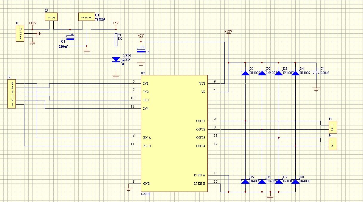 Diagrama electrónico del Módulo L298N