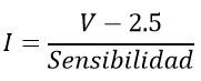 ecuacion para la corriente ACS712