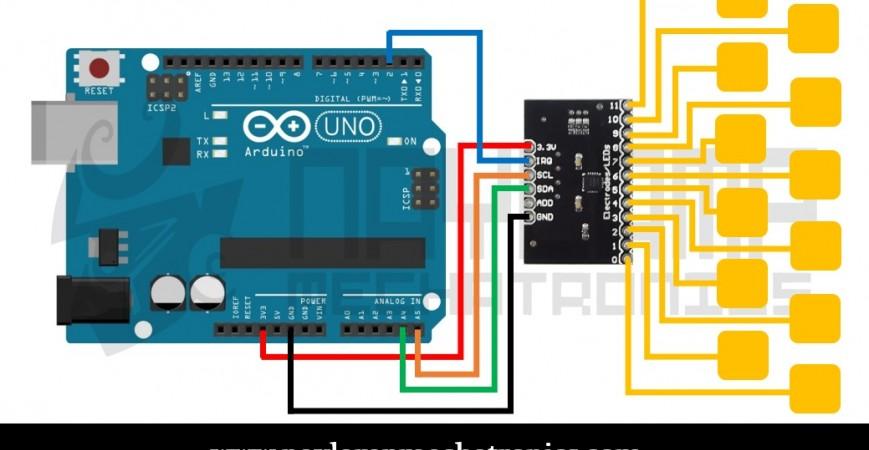 Tutorial sensor táctil capacitivo MPR121