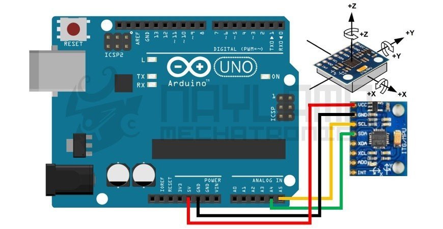 Tutorial MPU6050, Acelerómetro y Giroscopio